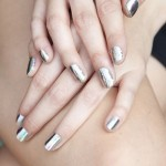 ногти в цвете серебро