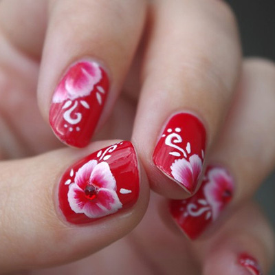 фото маникюр на коротких ногтях с рисунком фото