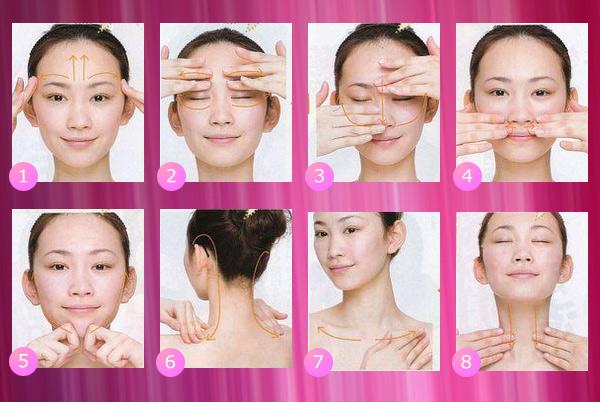 Схема массажа лица