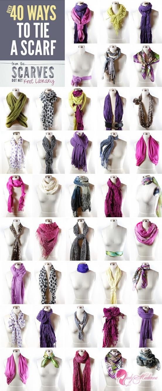40 способов красиво завязать шарф