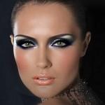 правильный макияж зеленых глаз для брюнетки