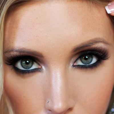 Макияж для зеленых глаз для блондинок пошаговое