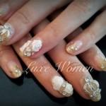 наращивание ногтей гелем объемный дизайн