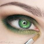 поэтапный макияж зеленых глаз: шаг 6