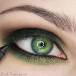 поэтапный макияж зеленых глаз: шаг 7