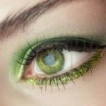 макияж зеленых глаз для рыжих волос