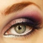 вечерний макияж зеленых глаз для рыжих волос