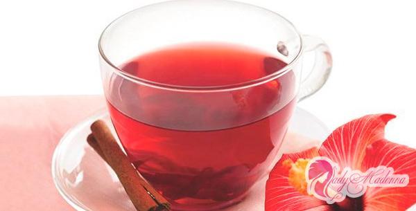 чай из каркаде с корицей