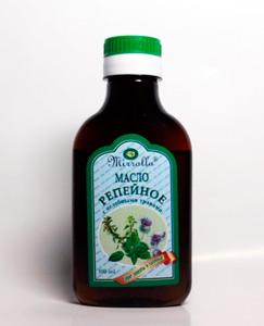 втирание репейного масла в кожу головы