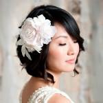прически на средние волосы фото на свадьбу