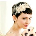 невеста с короткими волосами