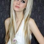 длинные волосы с челкой фото