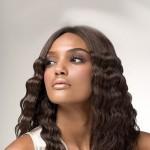 мокрый эффект на длинные волосы