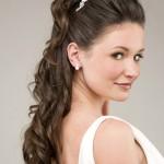 свадебные прически длинные распущенные волосы