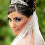 свадебные прически на длинные волосы с фатой