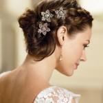 свадебные прически на длинные волосы без челки