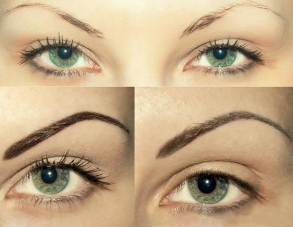 перманентный макияж методом шотирования