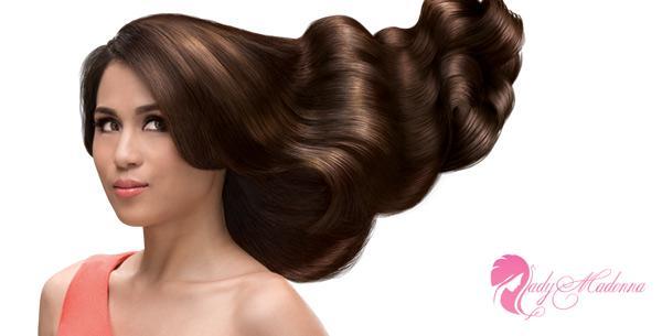 глянцевание волос