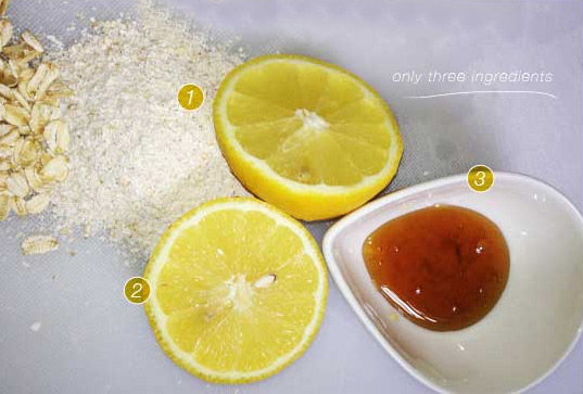 маска с лимоном и солью