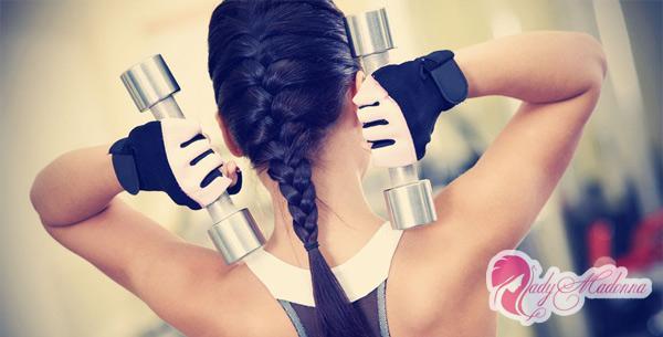 упражнения с гантелями для девушек в домашних условиях
