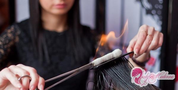 обжигание волос огнем