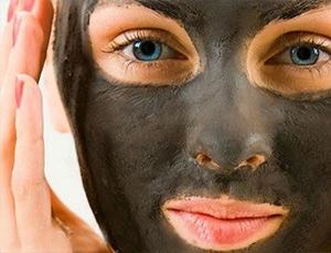 маска с черной глиной