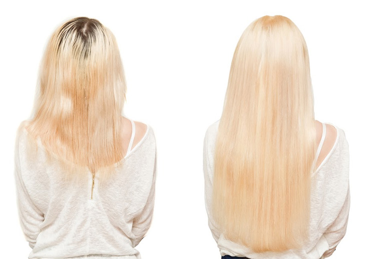 наращивание волос капсулами на средний волос