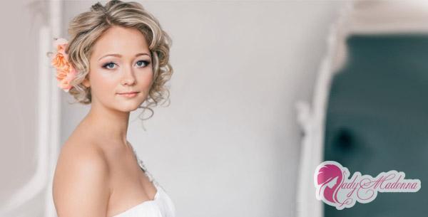 свадебные прически фото на короткие волосы