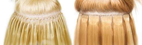 ленточное и капсульное наращивание волос