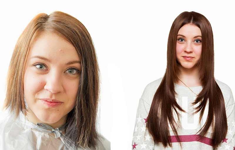 наращивание горячим способом на короткие волосы