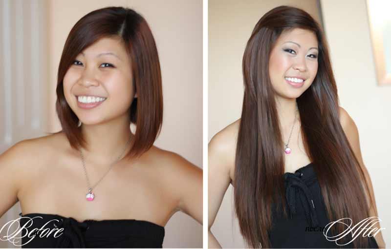 фото до и после наращивания