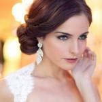 свадебные прически на средние волосы для темных волос