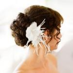 свадебные прически на средние волосы с челкой