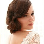 простые свадебные прически на средние волосы