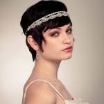 свадебная прическа для коротких волос 2014
