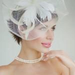 прическа невесты на короткие волосы фото