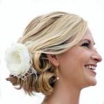 короткая свадебная прическа для невесты