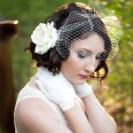 короткая прическа невесты