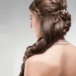 прически для невесты на длинные волосы