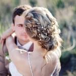 свадебная укладка с плетением