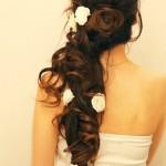 свадебная прическа на длинные волосы с косой