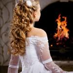 Свадебная прическа невесты на длинные волосы