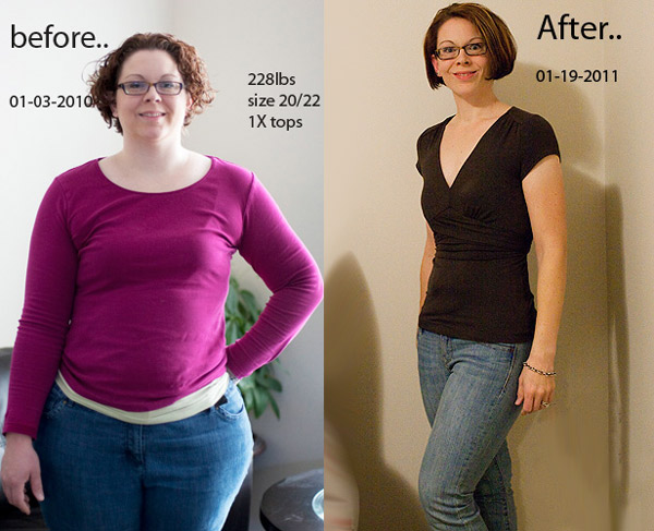 Фото результата белковой диеты - до и после