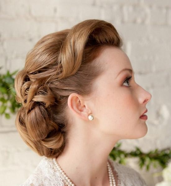 Вечерние прически на волосы до плеч фото с челкой