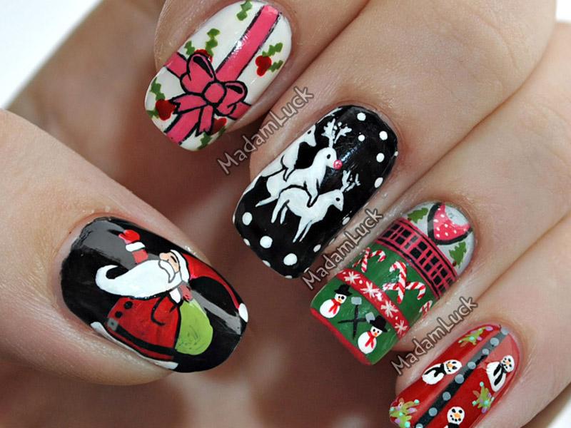 Шеллак фото ногтей дизайн новый год