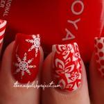 идеи новогодних рисунков и орнаментов для ногтей