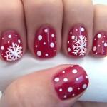 новогодние снежинки на ногтя