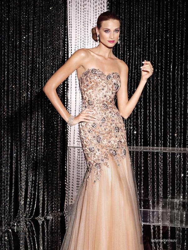 длинные вечерние платья на Новый год 2015