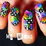 цветочный фотодизайн ногтей
