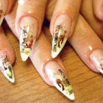фотодизайн ногтей наклейками
